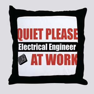 Electrical Engineer Work Throw Pillow