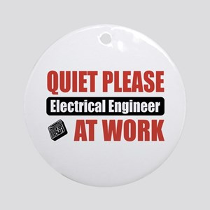 Electrical Engineer Work Ornament (Round)