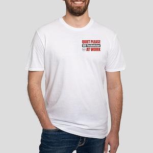 EEG Technician Work Fitted T-Shirt