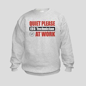 EEG Technician Work Kids Sweatshirt