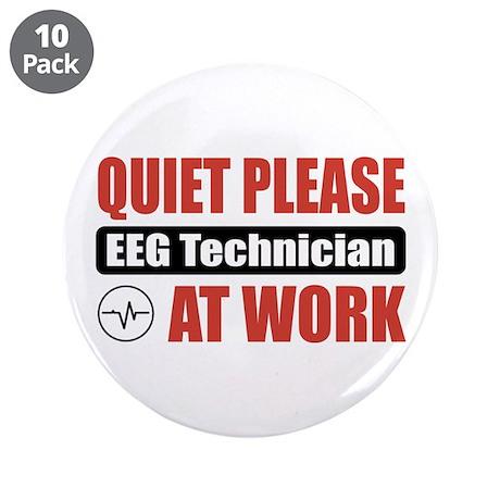 """EEG Technician Work 3.5"""" Button (10 pack)"""