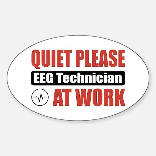 EEG Technician Work Oval Decal