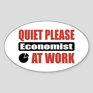 Economist Work Oval Sticker