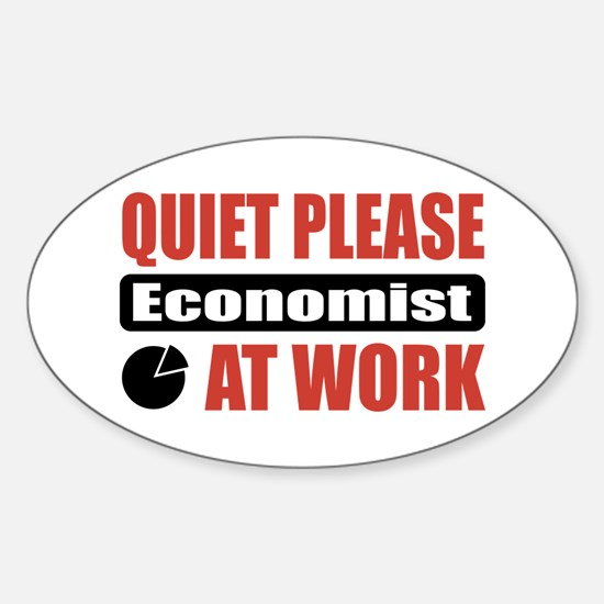 Economist Work Oval Decal