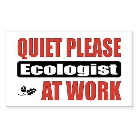 Ecologist Work Rectangle Sticker