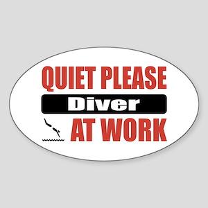 Diver Work Oval Sticker
