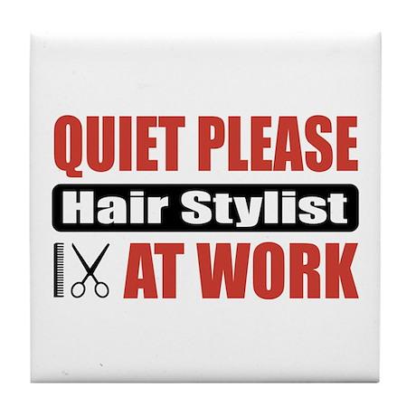 Hair Stylist Work Tile Coaster