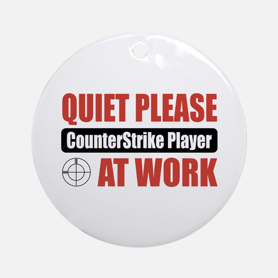 CounterStrike Player Work Ornament (Round)