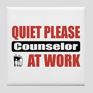 Counselor Work Tile Coaster