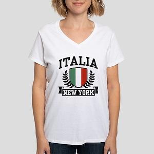 Italia New York Women's V-Neck T-Shirt