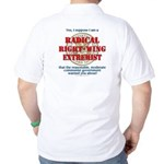 Right-Wing Extremist Golf Shirt