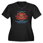 Right-Wing Extremist Women's Plus Size V-Neck Dark