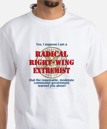 Right-Wing Extremist White T-Shirt