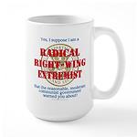 Right-Wing Extremist Large Mug