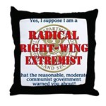 Right-Wing Extremist Throw Pillow