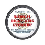 Right-Wing Extremist Wall Clock