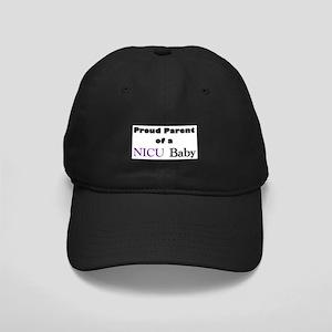 Proud Parent of a NICU Baby Black Cap