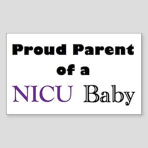 Proud Parent of a NICU Baby Rectangle Sticker