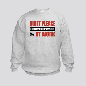 Concrete Person Work Kids Sweatshirt