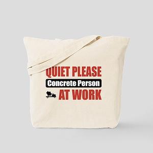 Concrete Person Work Tote Bag