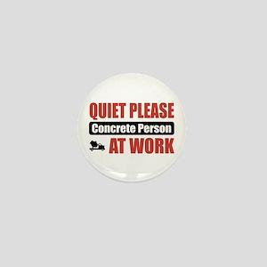 Concrete Person Work Mini Button