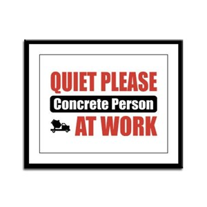 Concrete Person Work Framed Panel Print