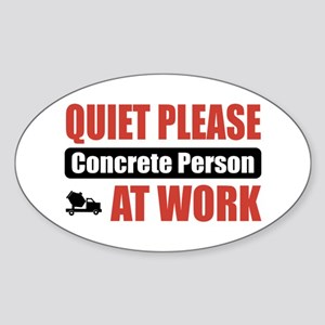 Concrete Person Work Oval Sticker