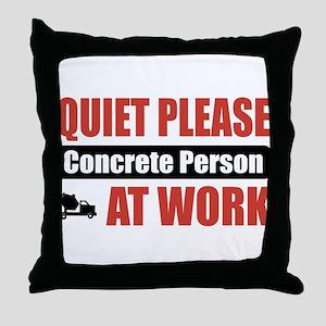 Concrete Person Work Throw Pillow
