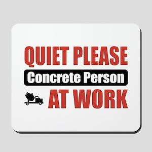 Concrete Person Work Mousepad