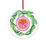 Joy Doodle Round Ornament