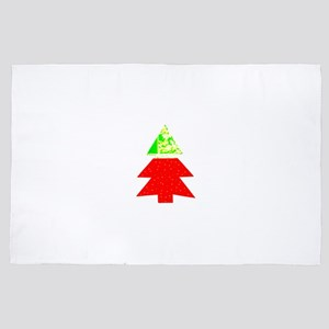 Red Green Christmas Tree 4Leigh 4' x 6' Rug