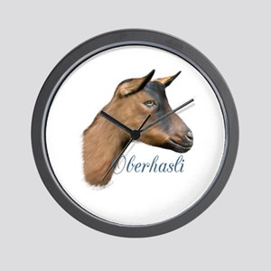 Oberhasli Dairy Goat Wall Clock