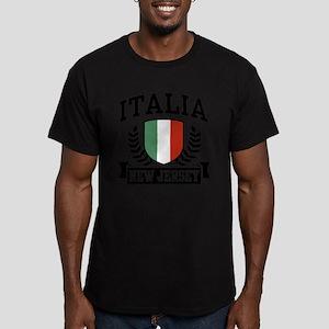 Italia New Jersey Men's Fitted T-Shirt (dark)