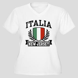 Italia New Jersey Women's Plus Size V-Neck T-Shirt