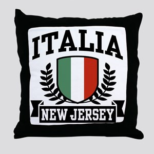 Italia New Jersey Throw Pillow