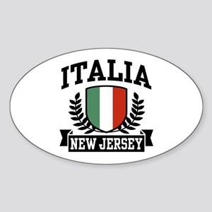 Italia New Jersey Oval Sticker
