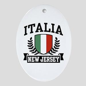 Italia New Jersey Oval Ornament