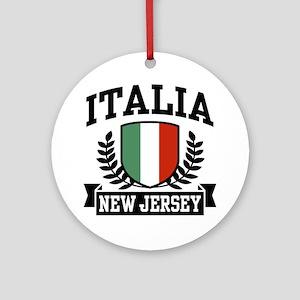 Italia New Jersey Ornament (Round)