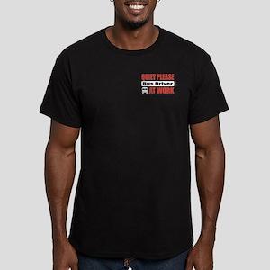 Bus Driver Work Men's Fitted T-Shirt (dark)