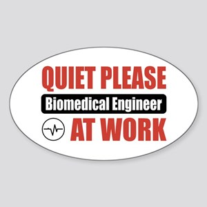 Biomedical Engineer Work Oval Sticker