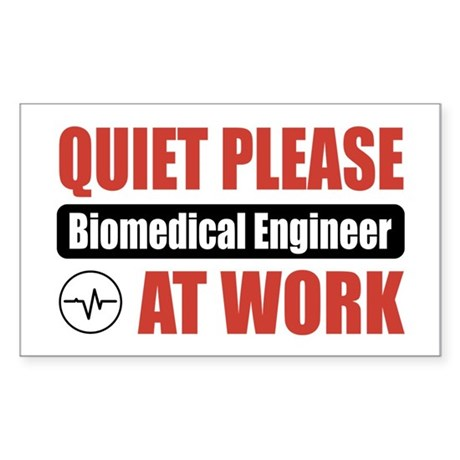 Biomedical Engineer Work Rectangle Sticker