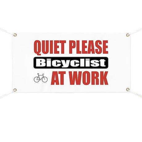Bicyclist Work Banner