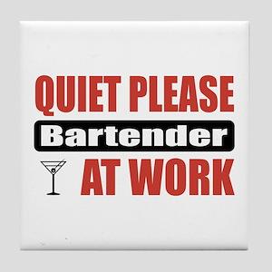 Bartender Work Tile Coaster