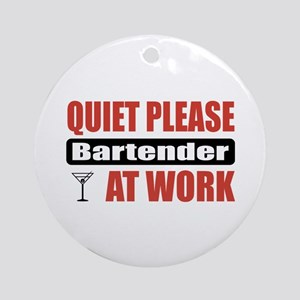 Bartender Work Ornament (Round)