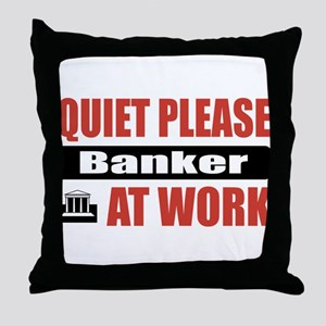 Banker Work Throw Pillow