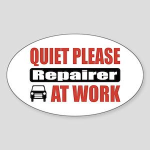 Repairer Work Oval Sticker