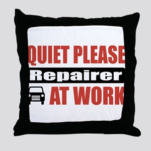 Repairer Work Throw Pillow