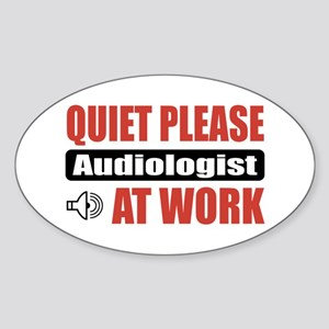 Audiologist Work Oval Sticker