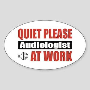 Audiologist Work Oval Sticker