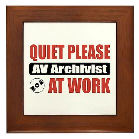 AV Archivist Work Framed Tile